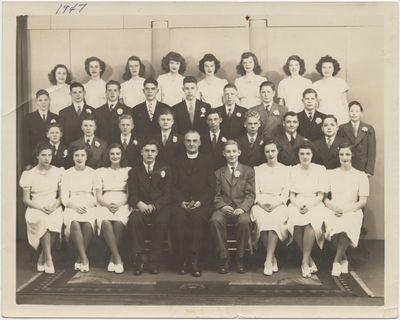 St. John's Lutheran Church confirmation class, 1947