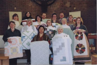 Waterloo Lutheran Seminary quilt day, 2004