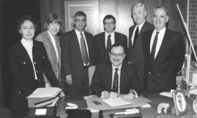 TriUniversity Group of Libraries (TUG) Agreement signing, 1995