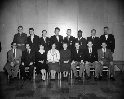 Waterloo College senior class 1953-54