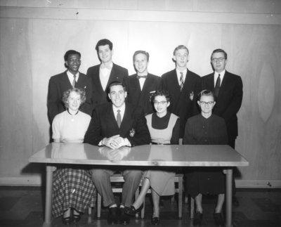 Waterloo College senior class executive, 1953-54