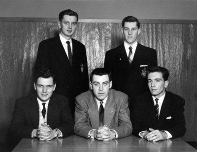 Waterloo College senior class executive, 1955-56