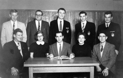 Waterloo College Newsweekly staff, 1955-56