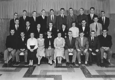 Waterloo College senior class, 1954-55