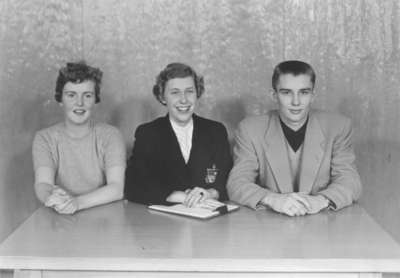 Waterloo College Athenaeum Society executive, 1954-55