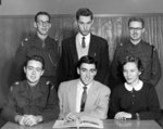 Waterloo College Cord staff, 1955-56