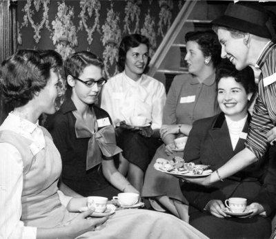 Waterloo College freshette tea, 1955-56
