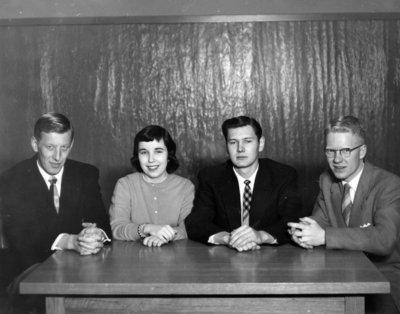 Athenaeum Society executive, 1955-56