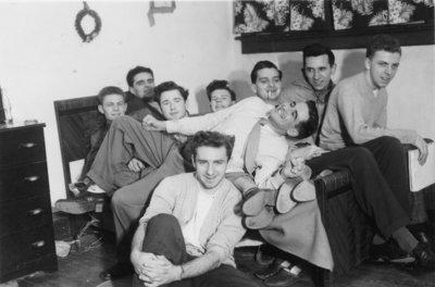 Waterloo College students in dormitory room