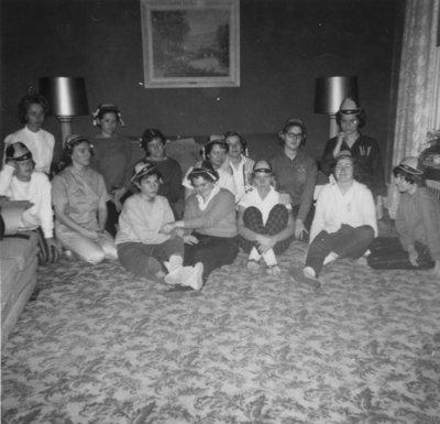 Female Waterloo Lutheran University students during initiation week