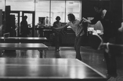 Table tennis in Wilfrid Laurier University Concourse