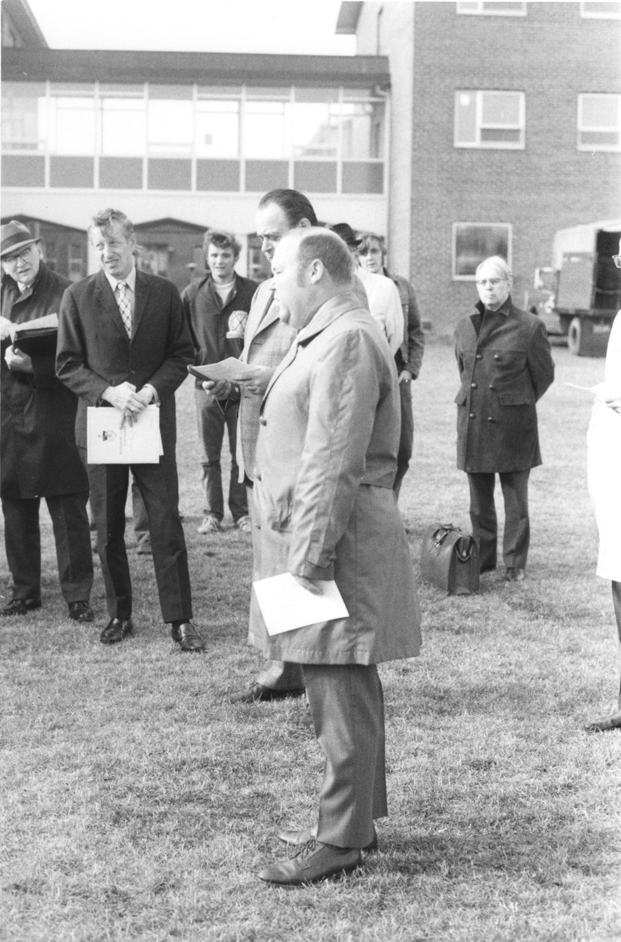 """David """"Tuffy"""" Knight at the Athletic Complex groundbreaking ceremony"""