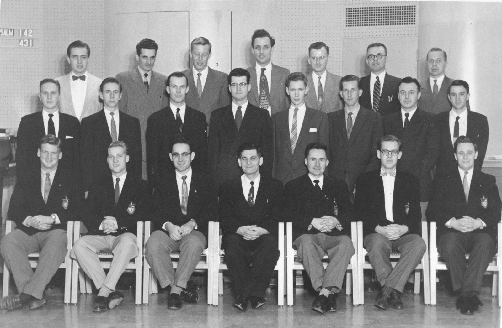 Waterloo Lutheran Seminary Male Chorus, 1955-56