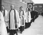Procession at the dedication of the Waterloo Lutheran Seminary building