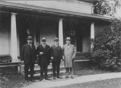 William Lyon Mackenzie King visiting his birthplace