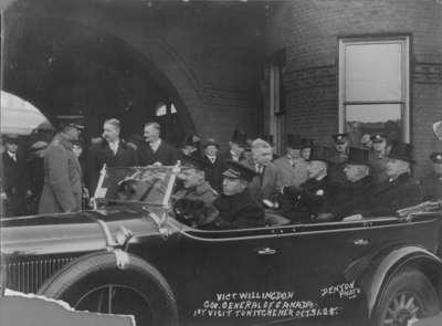 Viscount Willingdon's visit to Kitchener, 1928