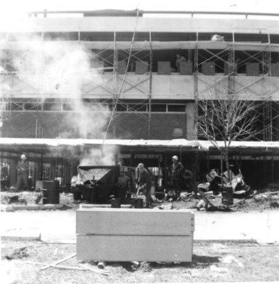 Waterloo Lutheran University Library construction
