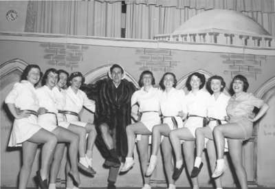 Purple and Gold Revue chorus line, December 1949