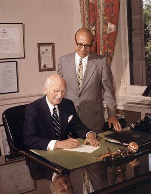 W. Ross Macdonald signing Bill 178