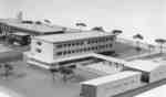 Architectural model of the Waterloo Lutheran University Arts Building addition
