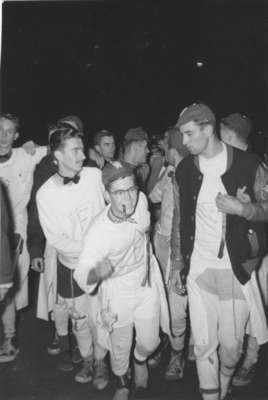 Waterloo College students during initiation week, 1955