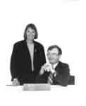Cheryl Harvey and Tupper Cawsey