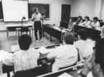 David Gillen in classroom
