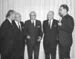 Five men at the Lutheran Brotherhood lectures, 1963