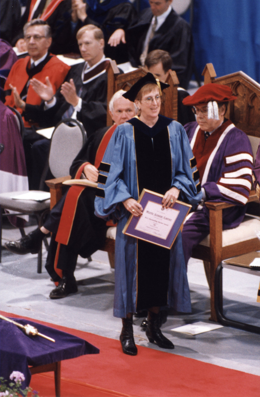 Martha Keniston Laurence at spring convocation 1998, Wilfrid Laurier University
