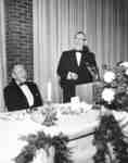 Prime Minister Lester B. Pearson speaking at Waterloo Lutheran University