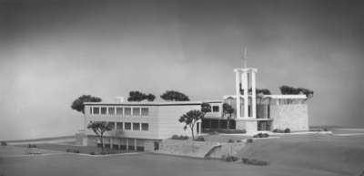 Architectural model of the Waterloo Lutheran Seminary building