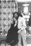 Man and woman in Waterloo Lutheran University residence room, 1972
