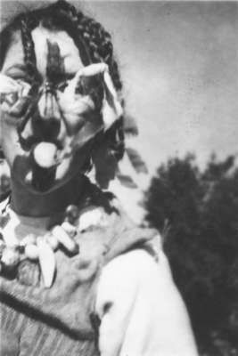 Waterloo College freshman Alice Bald during initiation week, 1947