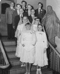 Confirmation class at Trinity Evangelical Lutheran Church in Hamilton, Ontario, 1955
