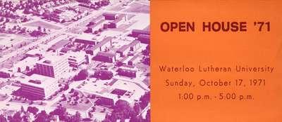 Open House '71 : Waterloo Lutheran University
