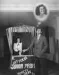 Waterloo College junior prom ticket booth, 1948