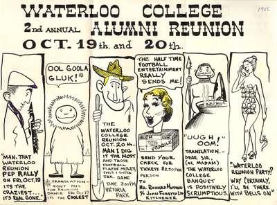 Waterloo College 2nd annual alumni reunion, 1956