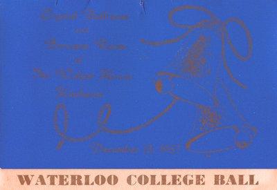 Waterloo College Ball dance card, 1957