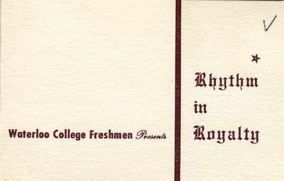 Rhythm and Royalty ticket, 1959