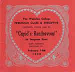 Waterloo College Valentine's Day dance card, 1958