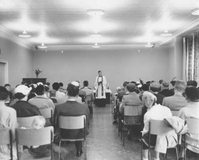 Pastor F. W. Zinck at Our Saviour's Lutheran Church, Lachine, Quebec