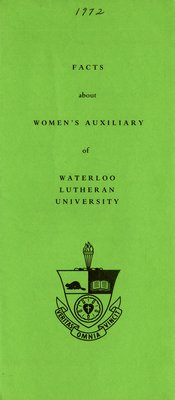 Facts About Women's Auxiliary of Waterloo Lutheran University