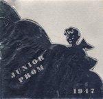 Waterloo College Junior Prom dance card, 1947