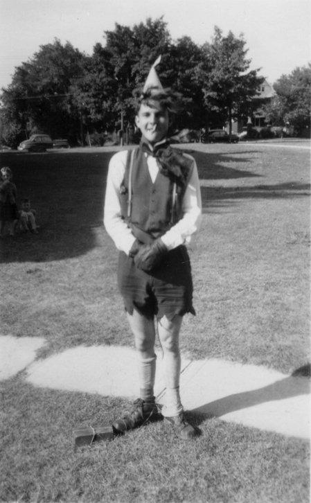 Bob Wagner during Waterloo College initiation week, 1948