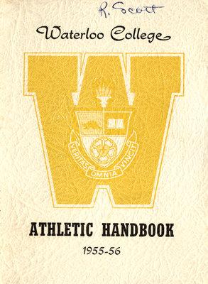 Waterloo College Handbook of Athletics, 1955-56