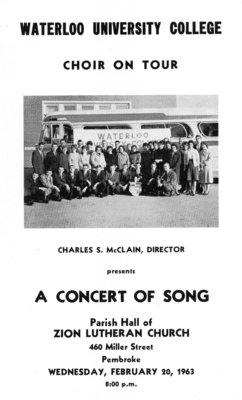 Waterloo University College Choir on tour