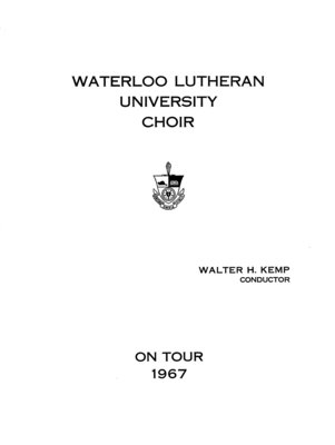 On tour 1967 : Waterloo Lutheran University Choir