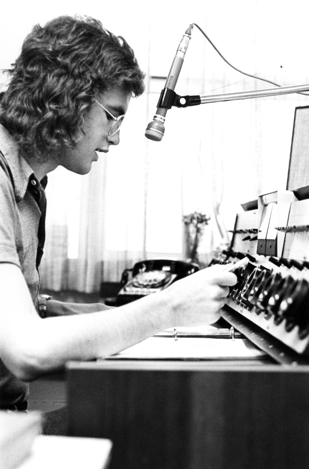 Radio Lutheran disc jockey