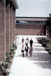 Students walking in quadrangle, Wilfrid Laurier University