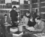 Students in Waterloo College Library, Willison Hall